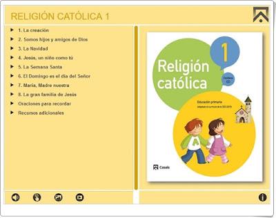 """""""Religión Católica 1"""" de Editorial Casals (Juegos, actividades interactivas y materiales didácticos de 1º de Primaria)"""