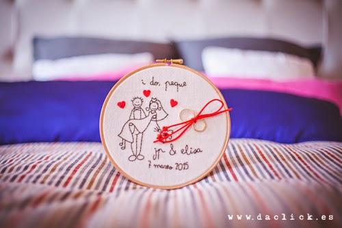 Bastidor para anillos de boda
