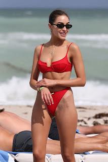 Olivia Culpo in a Red Bikini