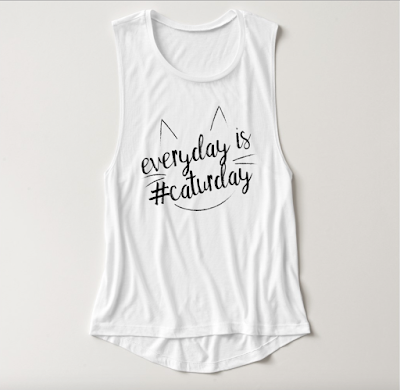 everyday is #caturday Zazzle tank top