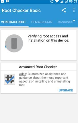 Verifikasi root checker