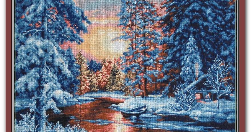 """B477 """"Зимний пейзаж"""" Лука-S (Молдова)"""