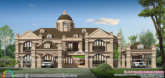 6 BHK luxury Colonial residence architecture