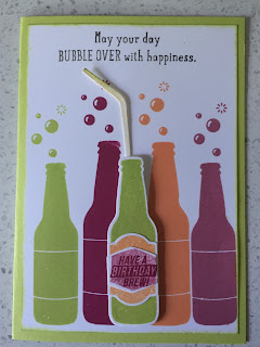Bubble over card zena kennedy independent stampin up demonstrator