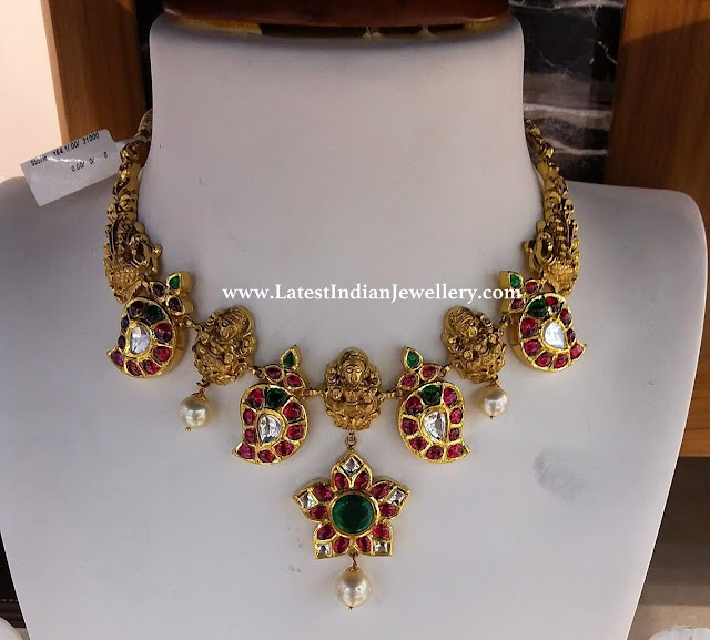 Kundan Mango Motifs Kante Necklace