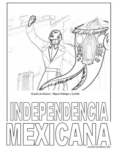 independencia-mexicana-para-colorear