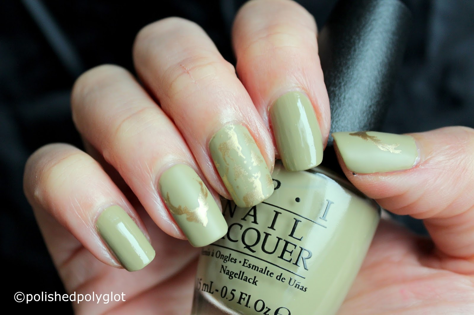 Nail Art │ Subtle green and gold design with Deer [Nail crazies ...