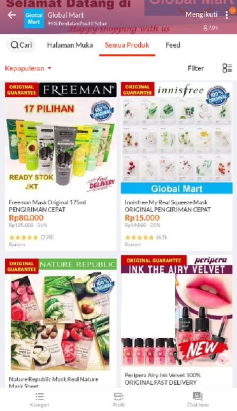 Global Mart Sebagai Toko Kosmetik Terlaris di Lazada