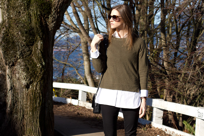 vancouver fashion blogger, alison hutchinson, in casual workwear style