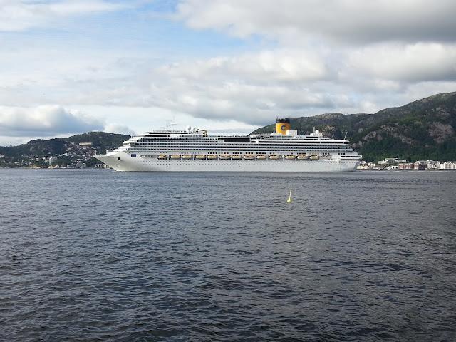 Cruise ship Costa Pacifica in Bergen, Norway