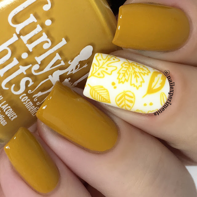 girly bits butternut leave me nail polish swatch