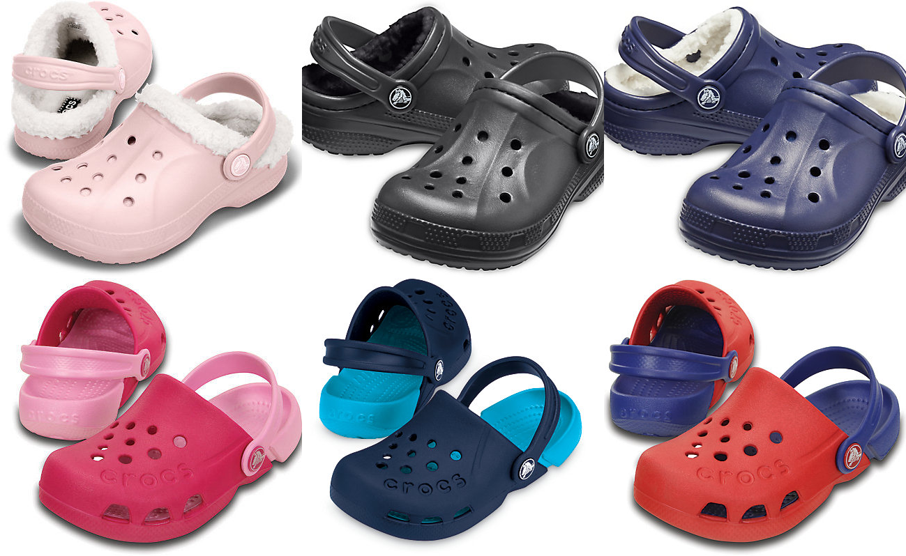 58a4e7266013c Crocs via eBay is offering 15% off when you buy 2 or more shoes. These Kids  Electro and Fuzz Lined Clog are on sale for  7.79. Get 2 for  13.24