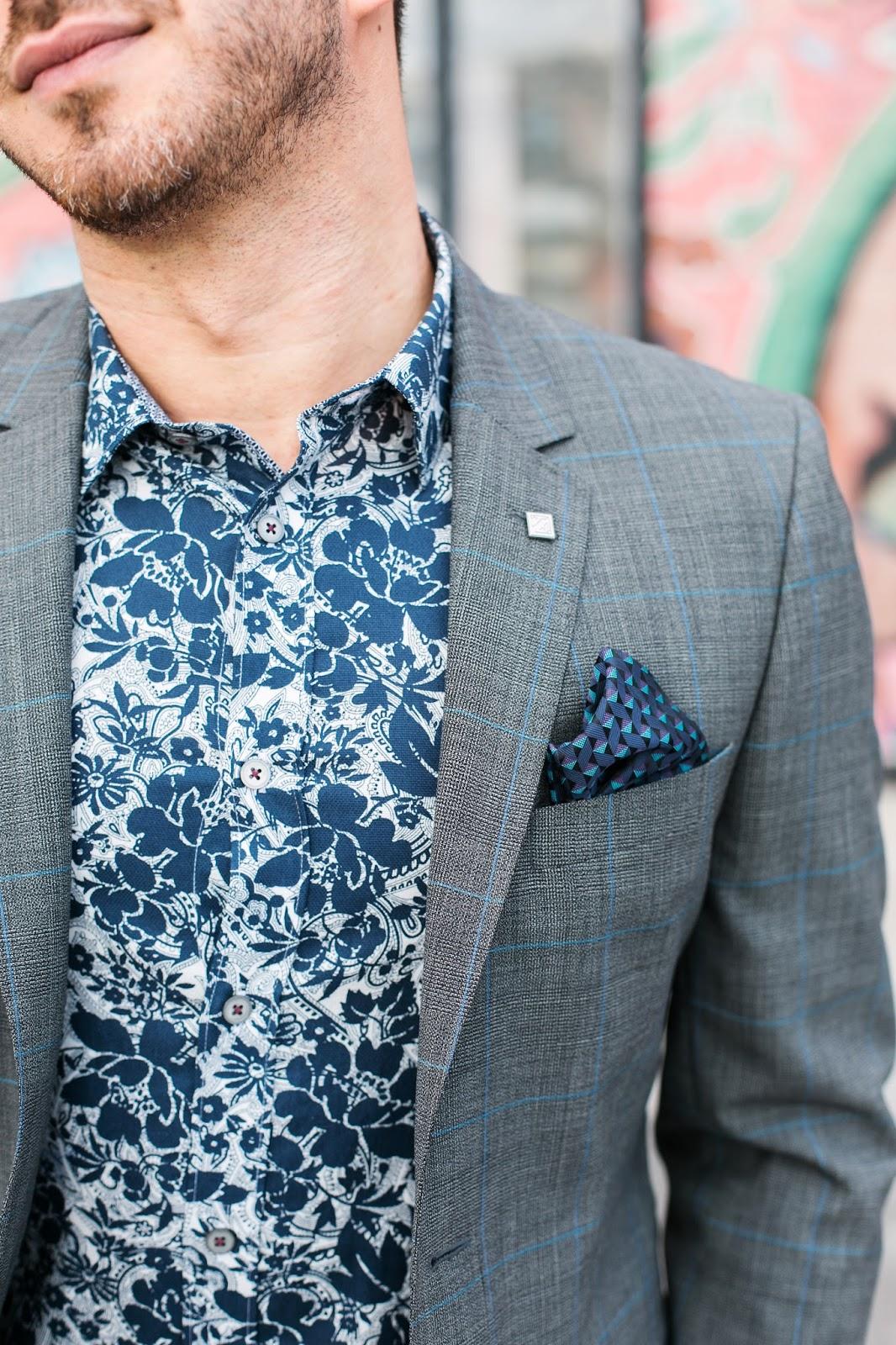 Bijuleni - Ted Baker grey suit details