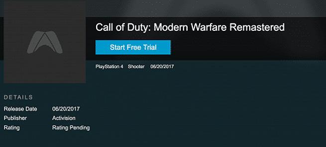 Call of Duty Modern Warfare Remastered se venderá por separado en junio según filtración
