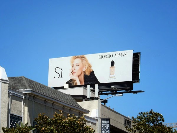 Giorgio Armani Si fragrance billboard