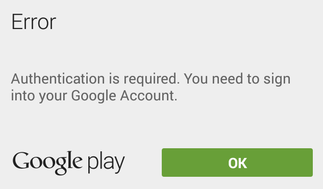 How to fix Authentication is required error in Google Play Store ...
