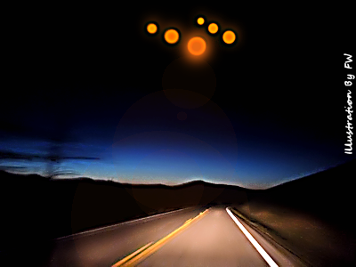 UFO Orbs in Formation Over Frederick, Colorado