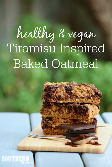 Healthy Tiramisu Baked Oatmeal Recipe - low fat, gluten free, healthy, vegan, clean eating recipe, healthy breakfast recipes, freezer friendly, breakfast meal prep
