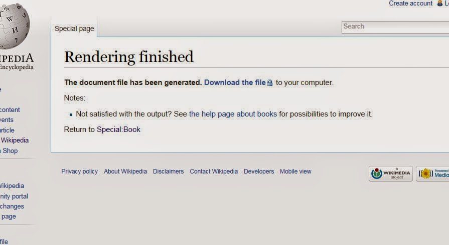 Wikipedia eBook prepare for download