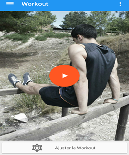 Application android pour faire des exercices de forme