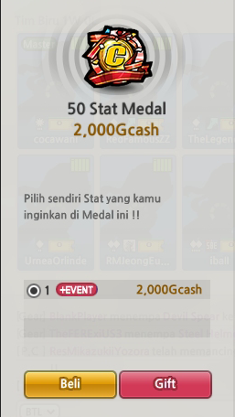 Medal Custom 50 Stats