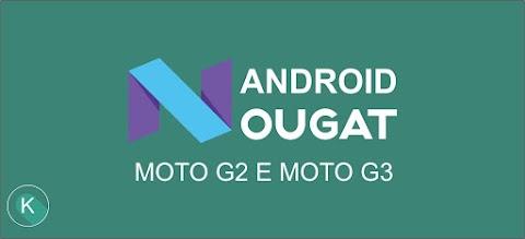 Android Nougat para Moto G 2013 e 2015 ?