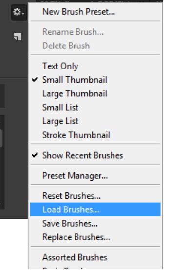 Chọn Load Brush để thêm từ máy tính của bạn