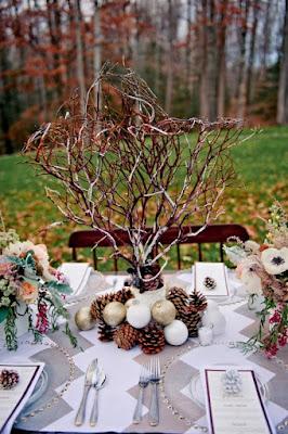 Estilismo para las mesas, table ware: decoración con elementos naturales