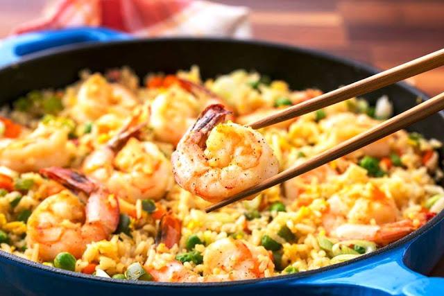 receta de arroz de camaron oriental