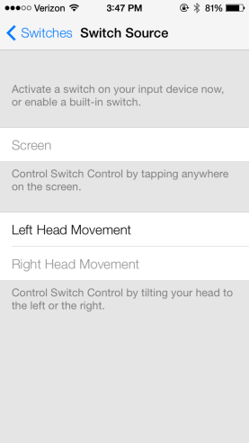 ios7 head control accessibility feature