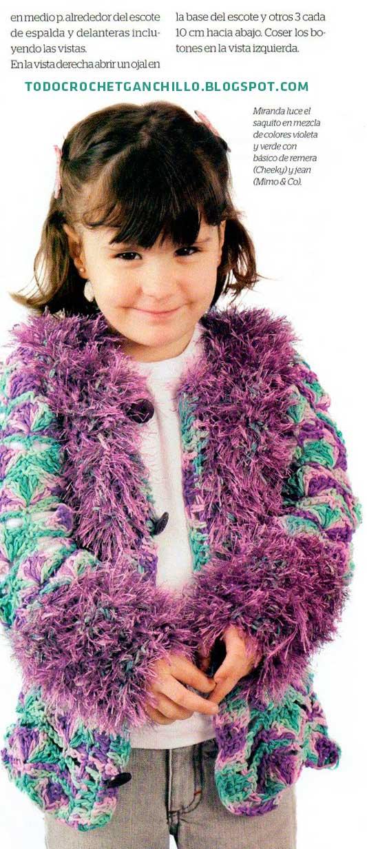Tutorial de tapado de nena tejido al crochet