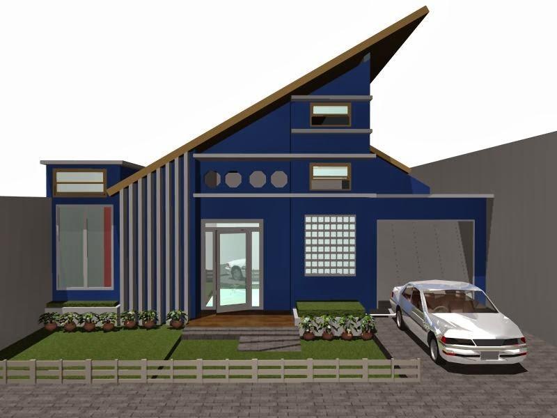 model rumah atap miring 2