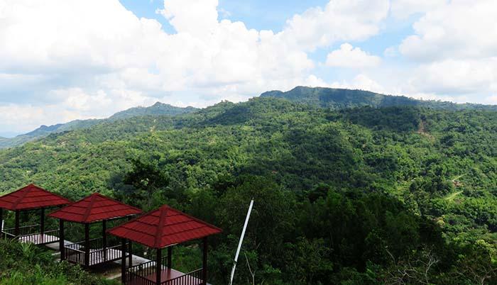 Menikmati Kehijauan Bukit Sriten di Green Village Gedangsari