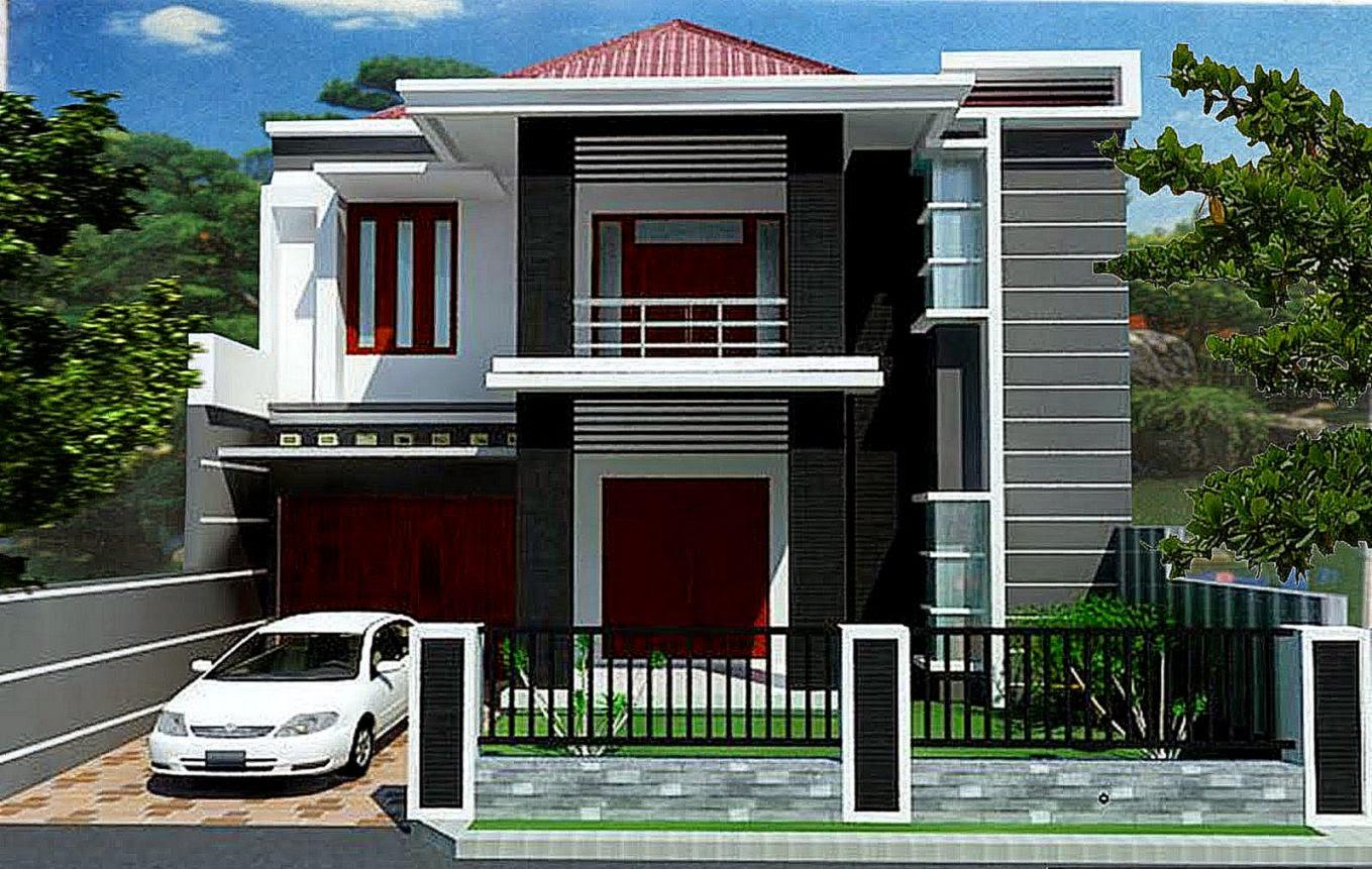108 Gambar Rumah Minimalis Modern 2 Lantai Type 45 Gambar Desain