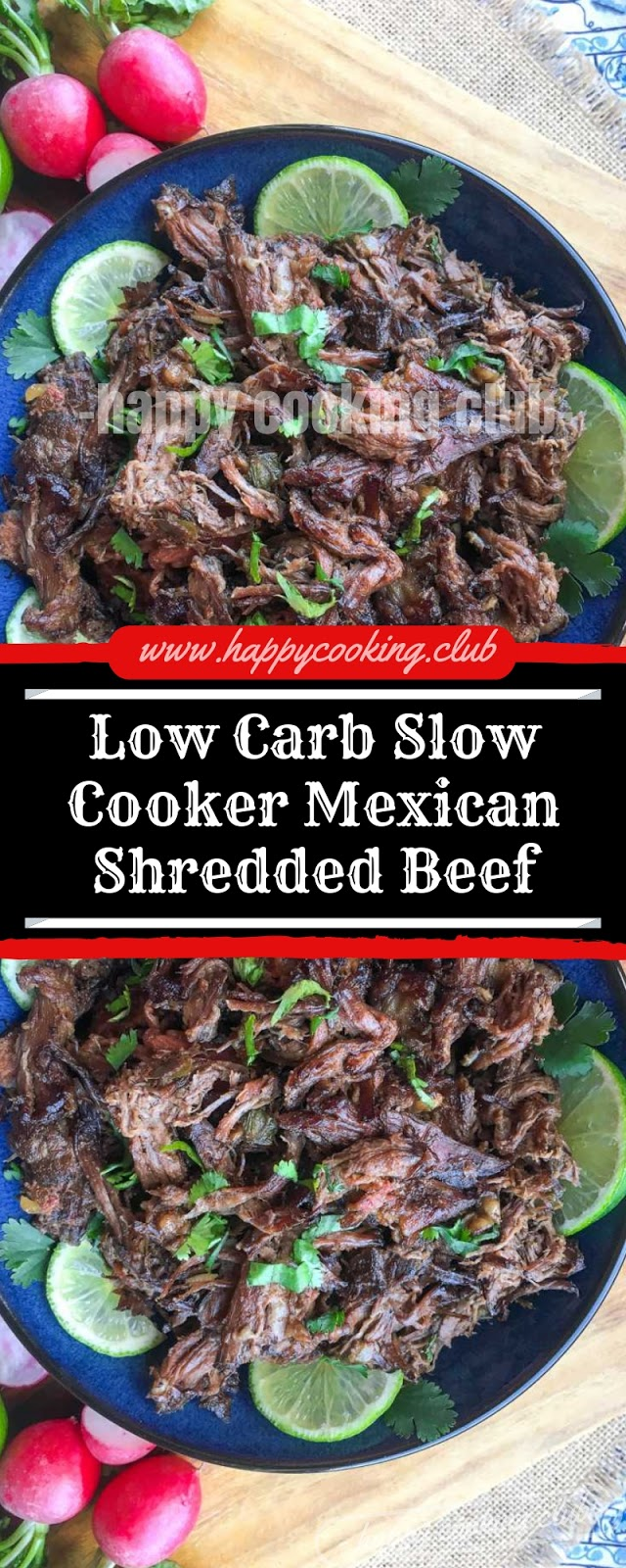 Low Carb Slow Cooker Mexican Shredded Beef