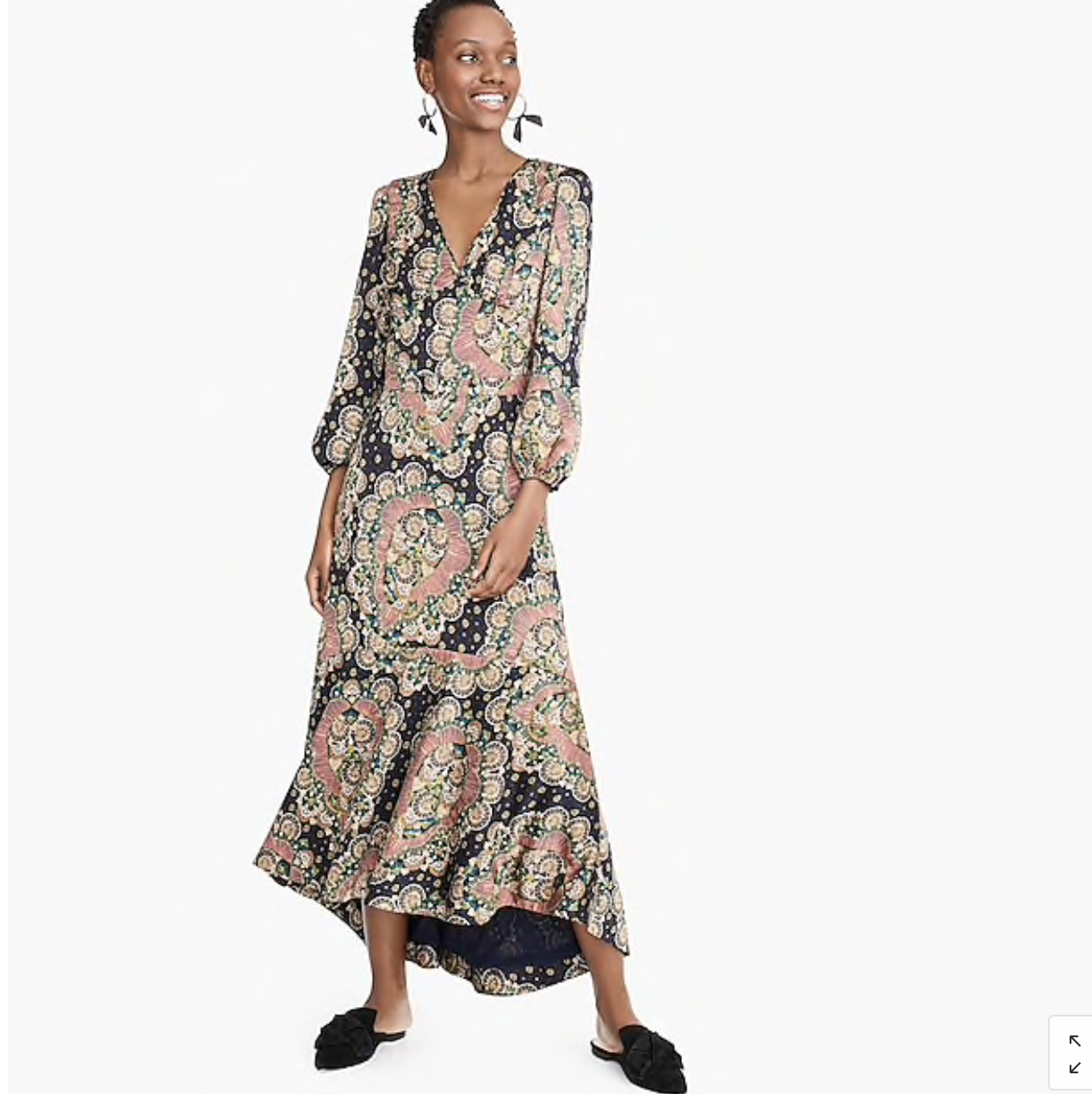 j crew Point Sur long sleeve paisley dress
