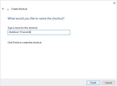 memberi nama shortcut timer.