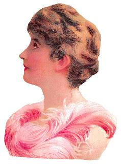 fashion victorian woman image portrait clipart illustration