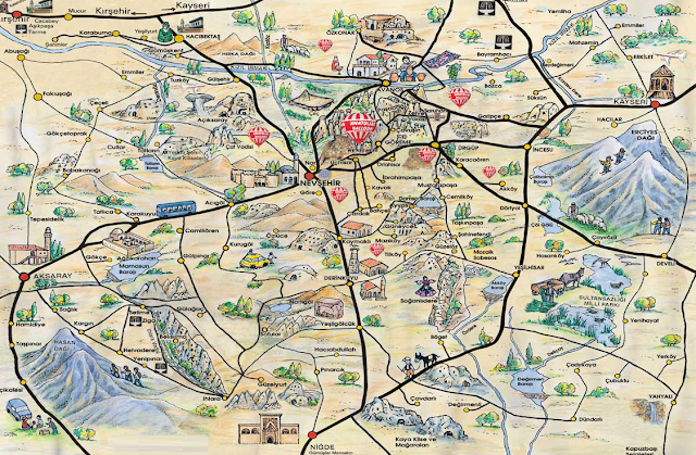 туристическая карта Каппадокии