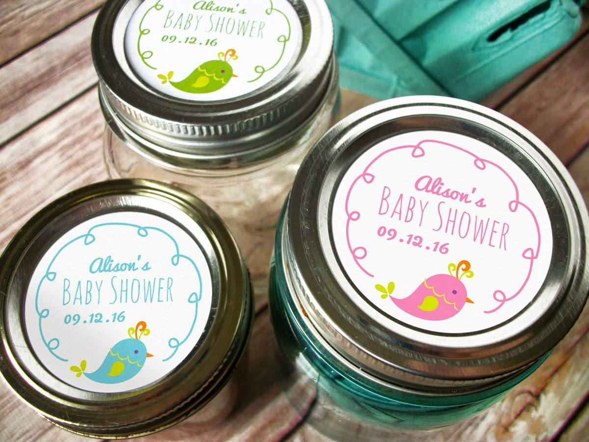 Labels: Colorful Adhesive Canning Jar Labels: Weddings And Babies