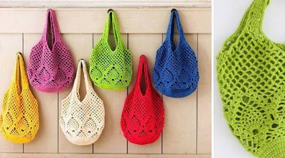 Resultado de imagen para Bolsa de verano en crochet