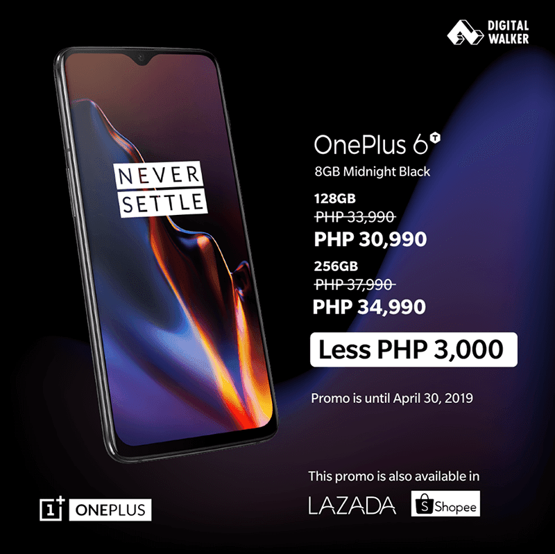 OnePlus 6T gets price cut at Digital Walker for a limited time
