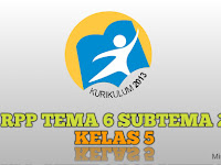 Download RPP Tema 6 Subtema 2 Kelas 5 Edisi Revisi 2017