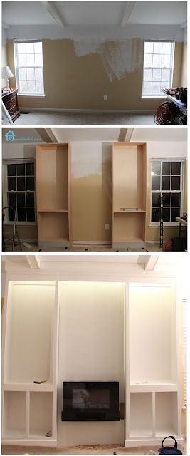 Diy bookcases for bedroom final reveal remodelando la casa electric fireplace in between bookcases diy solutioingenieria Image collections