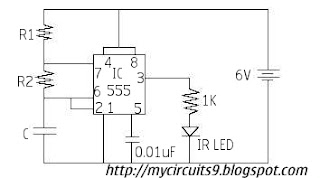 infrared transmitter circuit diagram