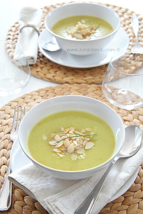 Passato di zucchine ricetta light vellutata vegana - vegan veggie zucchini soup recipe