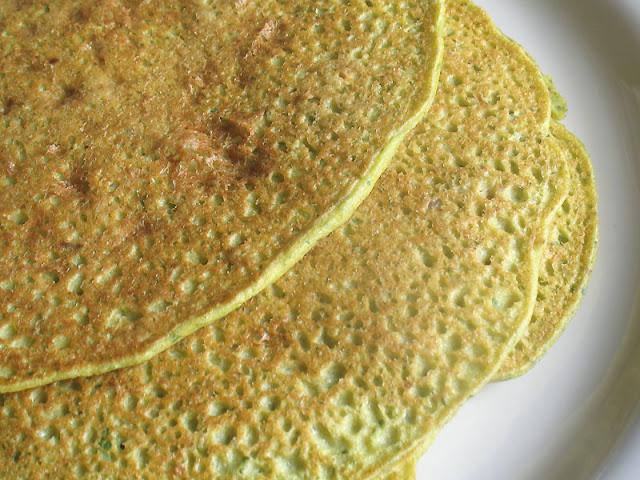 chickpea flour millet crepes