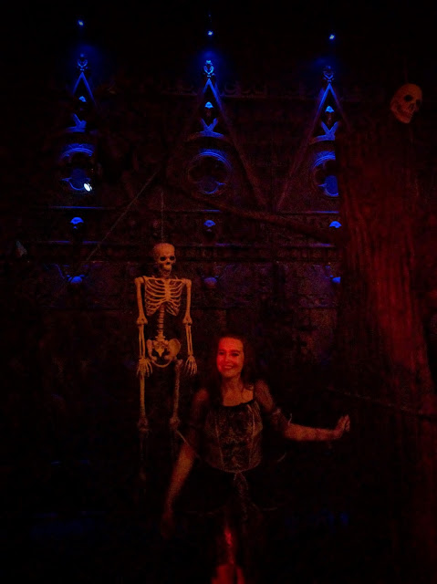 Castle Dracula Experience in Dublin - A Hanging Skeleton and 'Undead' Actor