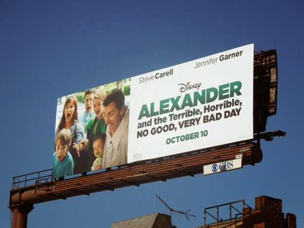 Alexander and Terrible, Horrible, No Good, Very Bad Day movie billboard