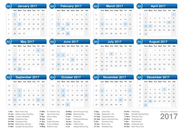 usa calendar 2017, calendar 2017 usa, 2017 us calendar, us calendar, calendar usa